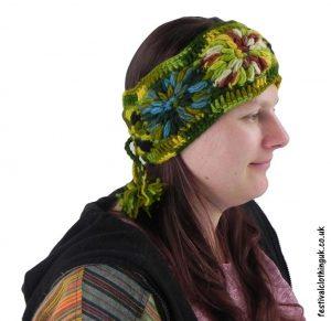 Wool-Festival-Headband-Green