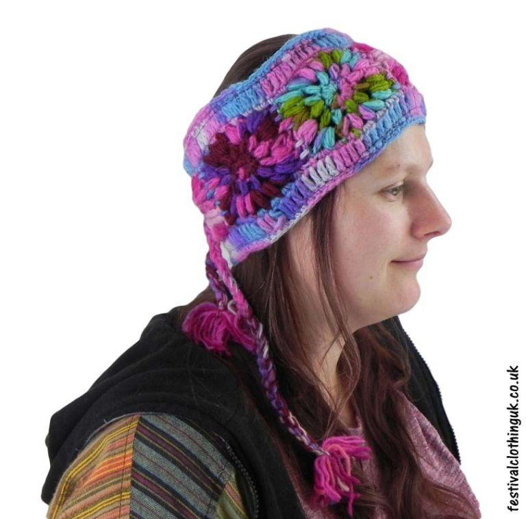 Wool-Festival-Headband-Pink