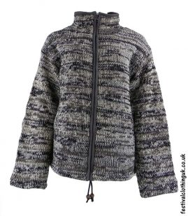 Wool-Festival-Jacket-with-HIgh-Neck-Brown-Grey