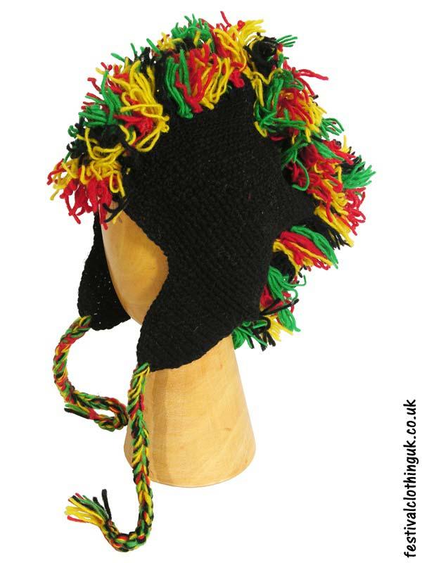7a1fe26f2a34f Wool-Mohawk-Nepalese-Festival-Hat-Rasta