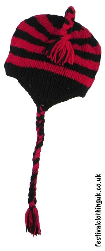 Wool-Over-the-Ear-Festival-Hat-Black-Red