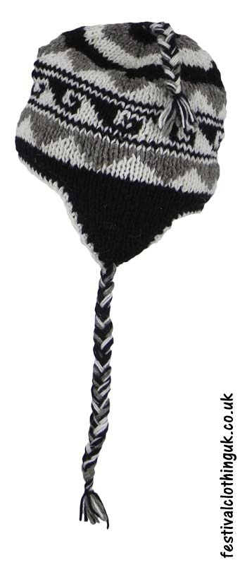 Wool-Over-the-Ear-Festival-Hat-Black-White