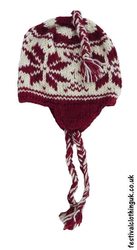Wool-Over-the-Ear-Festival-Hat-Red-White