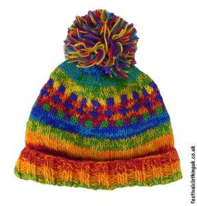 Wool-Patterned-Festival-Bobble-Hat-Rainbow