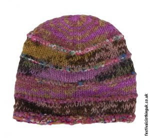 Wool-&-Silk-Festival-Beanie-Hat-Pink-Purple