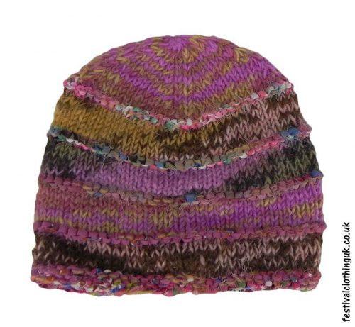 Wool-&-Silk-Festival-Beanie-Hat-Pink-Purple