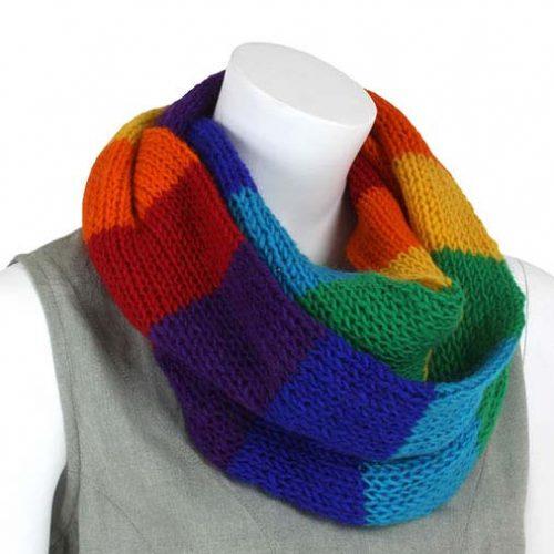 Wool Snood - Rainbow