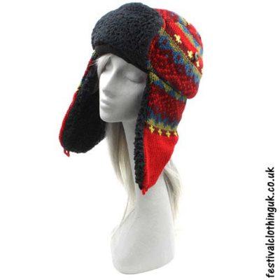 Wool-Ushanka-Trapper-Festival-Hat-Burgundy