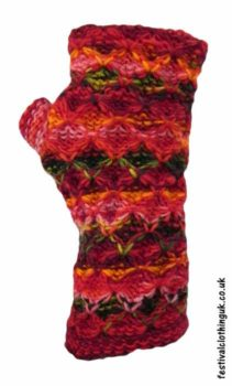 Wool-Wrist-Warmers-Criss-Cross-Red