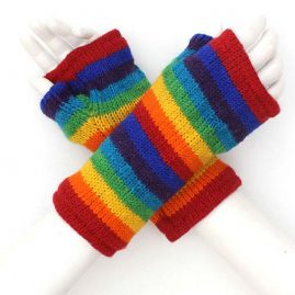Wrist Warmers - Rainbow