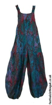 Acrylic-Festival-Dungarees-Teal