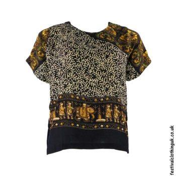 Batik-Patterned-Festival-Blouse-Beige