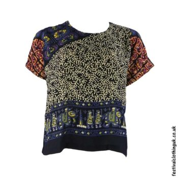 Batik-Patterned-Festival-Blouse-Blue-Beige