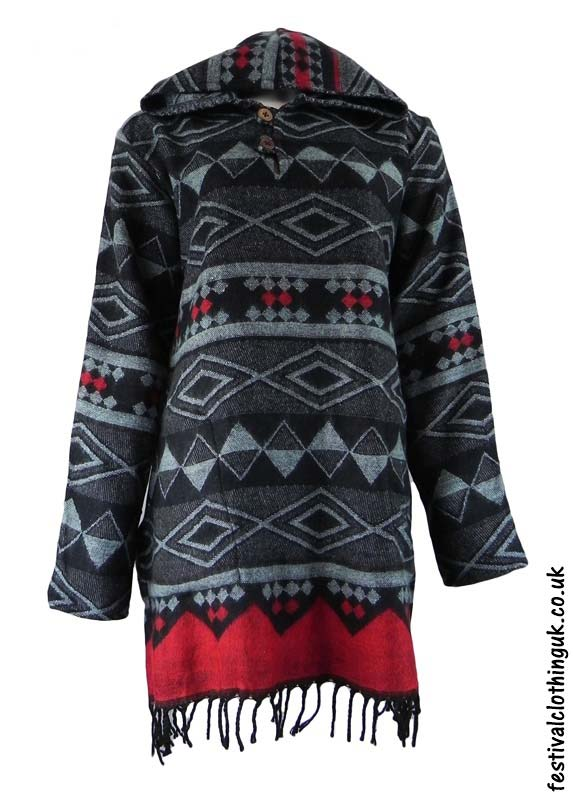 Black-Hooded-Acrylic-Festival-Dress