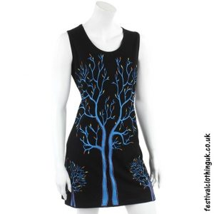 Black Tree of Life Festival Dress