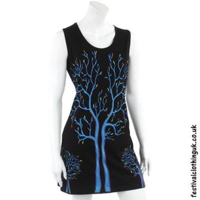Black Tree of Life Festival Dress