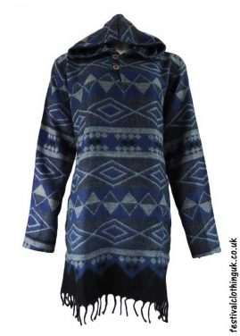 Blue-Hooded-Acrylic-Festival-Dress