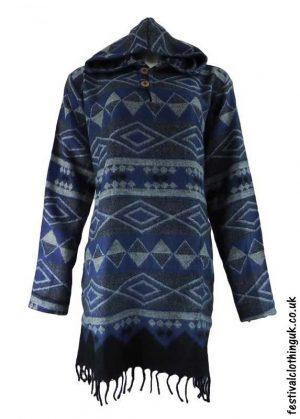 Blue-Hooded-Acrylic-Festival-Dress