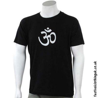 Cotton-Festival-T-Shirt-Black-Om