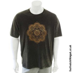 Cotton-Festival-T-Shirt-Green-Mandala