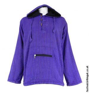 Cotton-Fleece-Lined-Pixie-Festival-Hoodie-Purple