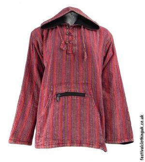 Cotton-Fleece-Lined-Pixie-Festival-Hoodie-Red