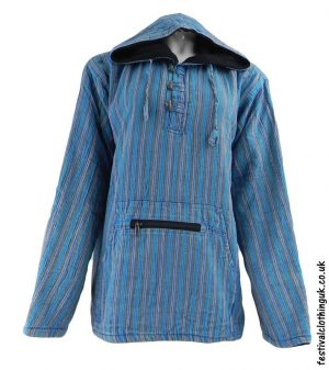 Cotton-Fleece-Lined-Pixie-Festival-Hoodie-Turquoise