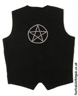 Embroidered Pentagram Festival Waistcoat