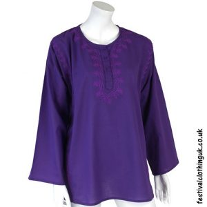 Embroidery Festival Kurta Tunic Purple