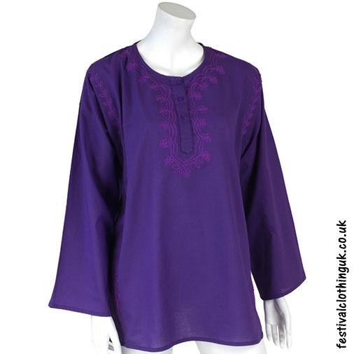Embroidery Festival Kurta Tunic Purple