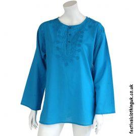 Embroidery Festival Kurta Tunic Turquoise