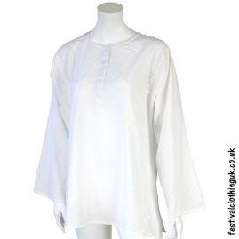 Embroidery Festival Kurta Tunic White