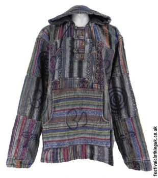 Gheri-Cotton-Patchwork-Festival-Hoodie-Charcoal