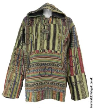 Gheri-Cotton-Patchwork-Festival-Hoodie-Yellow