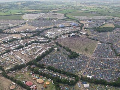 5 Things You Must Take To A Festival - Glastonbury Festival Birdseye View