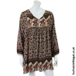Indian-Elephant-Festival-Tunic-Beige
