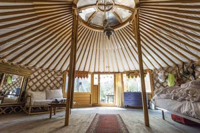 What Is Glamping And Is It For Me? - Inside of Yurt