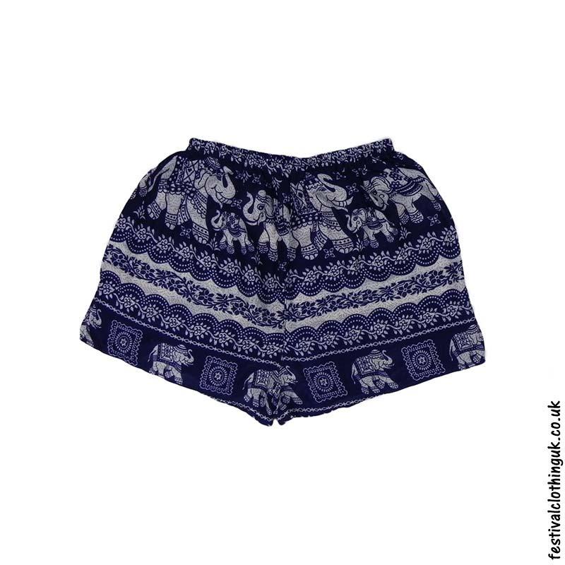 70d9e3818 Ladies-Elephant-Festival-Shorts-Blue