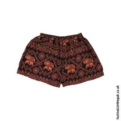 Ladies-Elephant-Festival-Shorts-Orange