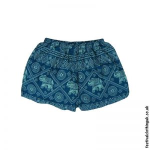 Ladies-Elephant-Festival-Shorts-Teal