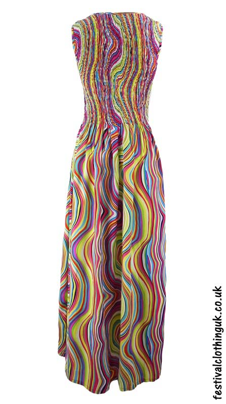Long-Festival-Maxi-Dress-Multicoloured-Back