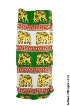 Long-Festival-Sarong-Beach-Wrap-Green-Elephant