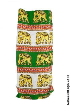 Long-Festival-Sarong-Beach-Wrap-Green-Elephant