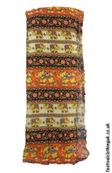 Long-Festival-Sarong-Beach-Wrap-Orange-Elephant