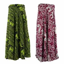 Long Wrap Skirts
