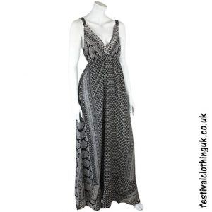 Long Floaty Festival Maxi Dress Black
