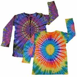 Long Sleeve Tie Dye Tops