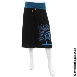 Long Tree of Life Festival Shorts Blue