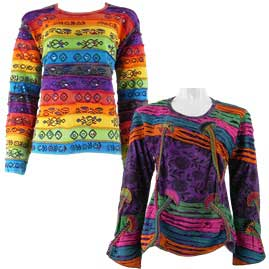 Mixed Long Sleeve Tops