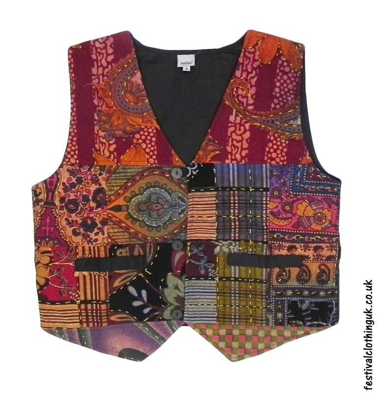 Multicoloured-Patchwork-Cotton-Festival-Waistcoat